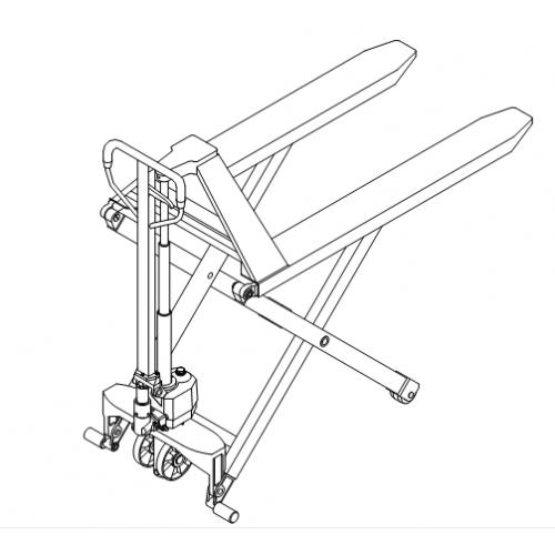 Nožnicový paletový vozík JF1000 1T