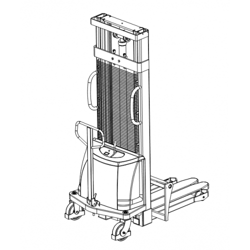 Poloelektrický vysokozdvižný vozík 1,0t 2,5m CDD10B-E25