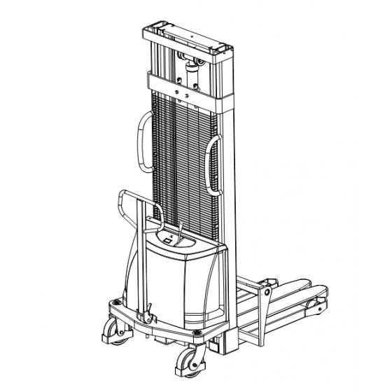 Poloelektrický vysokozdvižný vozík 1,0t 3,0m CDD10B-E30 s posuvnými vidlami