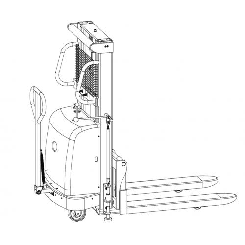 Poloelektrický vysokozdvižný vozík DYC10-35 1,0t 3,5m