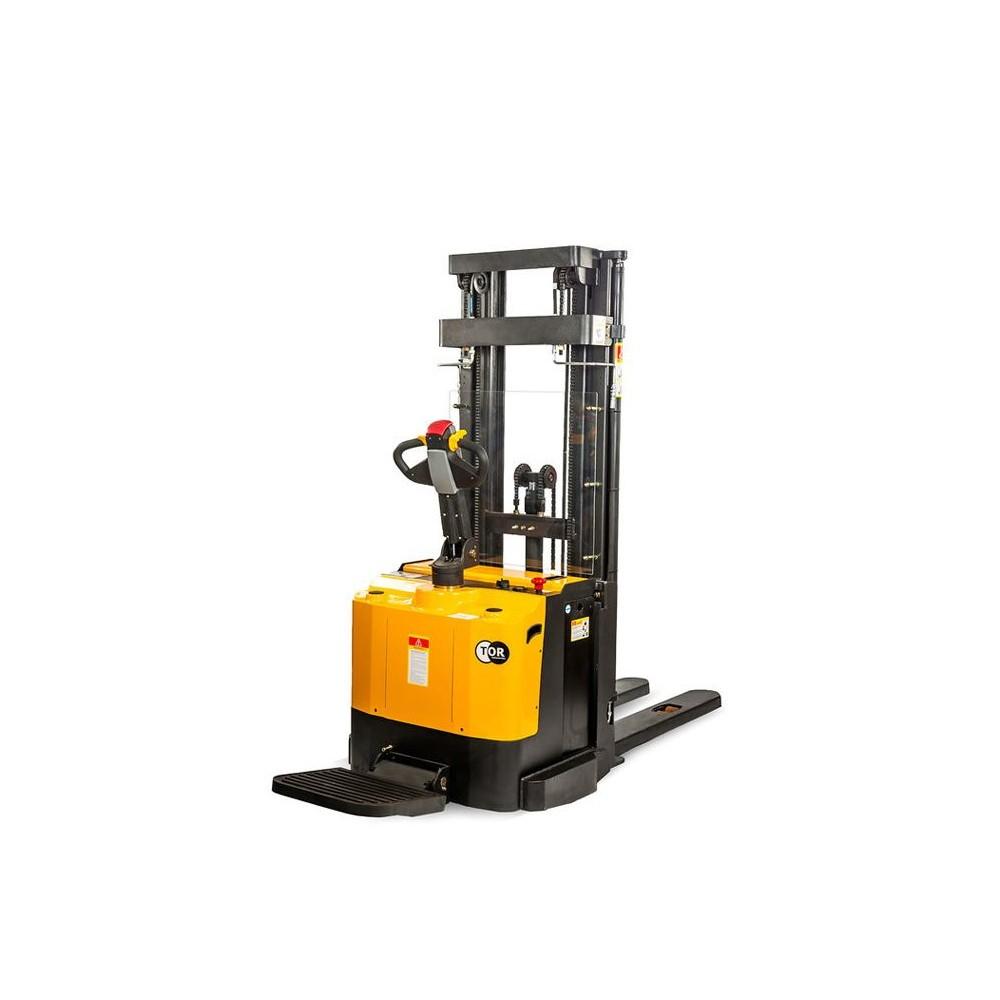Samohybný elektrický stohovač s plošinou 1,5t 5,0m ES15T4/5000