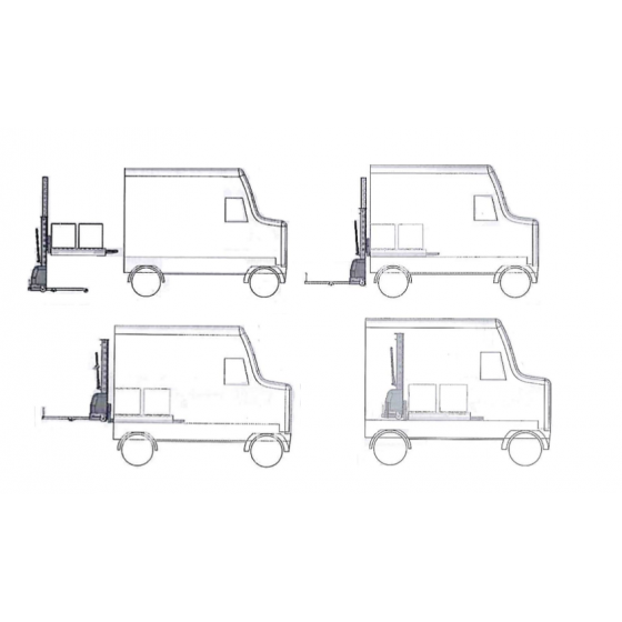 Samonakládací paletový vozík TOR 0,5 T 1,3 M VANGO500