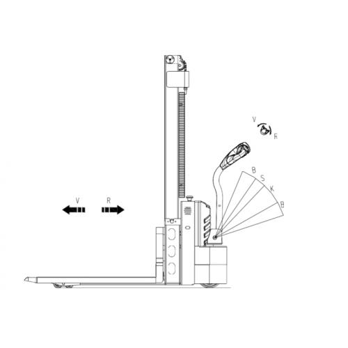 Elektrický vysokozdvižný vozík 1,2t 3,3m WS12S-3300