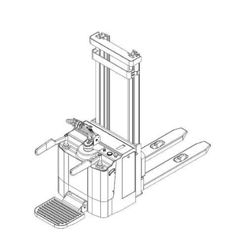Samohybný elektrický vysokozdvižný vozík s plošinou 1,5t 4,5m ES15T4/4500