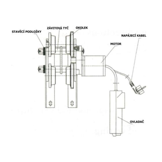 Elektrický pojazd pre kladkostroja HD 1T