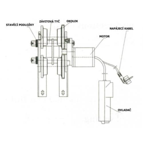 Elektrický pojazd pre kladkostroja HD 0.5T